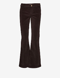 Victoria Corduroy Flare Pant - flared jeans - molé brown