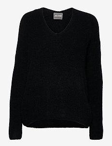 Thora V-neck Knit - trøjer - black