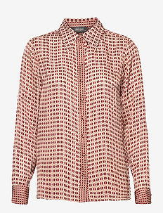 Taylor Retro Shirt - blouses med lange mouwen - biking red