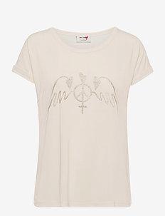 Alba SS Tee - t-shirts - ecru