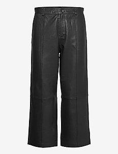 Como Leather Pant - leren broeken - black