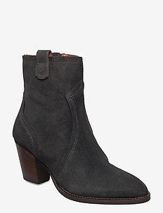 MM New York Suede Boot - ankelstøvler med hæl - dark grey