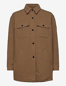 Vera Wool Shirt - overshirts - burro camel