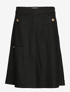 Alice Twiggy Skirt - midinederdele - black