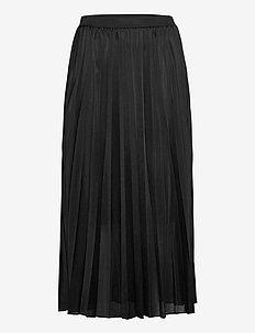 Plisse Jersey Skirt - midi kjolar - black