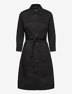 Selby Cole Dress - shirt dresses - black