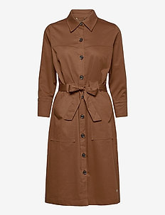 Selby Cole Dress - hemdkleider - deer brown