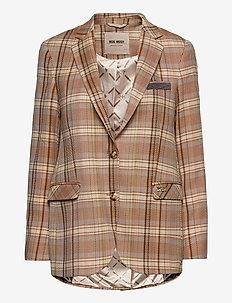 Mary Janelle Blazer - oversized blazers - peach beige