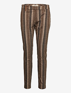 Abbey Beha Pant - slim fit bukser - chocolate chip