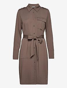 Rory Lipa Dress - shirt dresses - chocolate chip