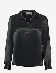 Lili Davine Shirt - long-sleeved shirts - black