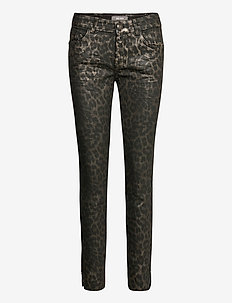 Sumner Animal Coated Jeans - slim jeans - gold