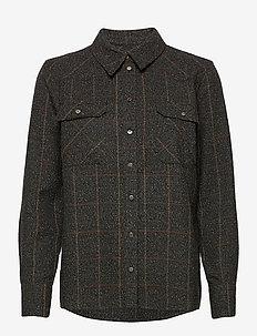 Billy Boucle Shirt - langermede skjorter - chocolate chip