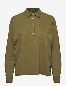 Cael Jersey Shirt - langærmede skjorter - winter moss