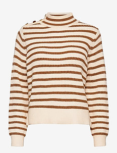 Lin Stripe Knit - jumpers - toasted cocount