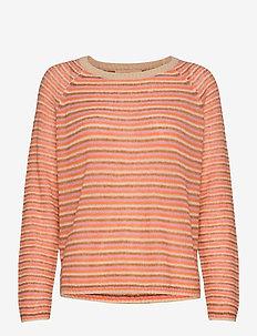Helsa Stripe Knit - trøjer - nectarine
