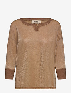 Kiara 3/4 Blouse - long sleeved blouses - toasted cocount