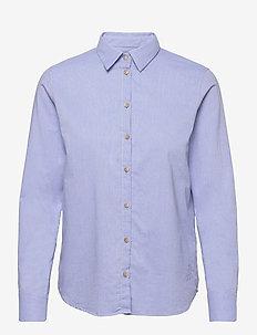 Martina Oxford Shirt - langærmede skjorter - bel air blue