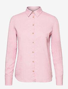 Martina Oxford Shirt - langærmede skjorter - bubble pink