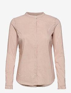Mattie Two Stripe Shirt - langærmede skjorter - cuban sand