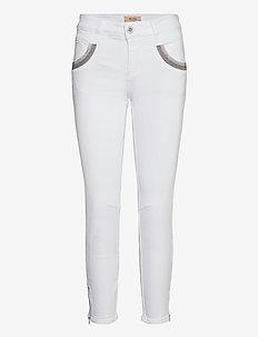 Naomi Shade White Jeans - slim jeans - white
