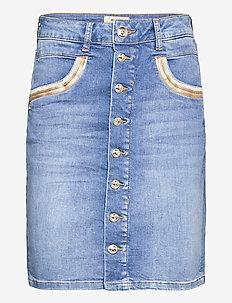 Vicky Wave Skirt - midi kjolar - light blue