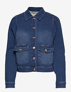 Aiden Puff Jacket - vestes en jean - blue