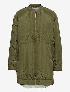 Sila Quilted Coat - manteaux d'hiver - winter moss