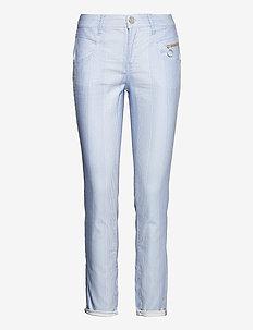 Nelly Island Pant - slim fit broeken - bel air blue