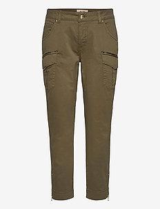 Camille Cargo Pant - bukser med lige ben - army