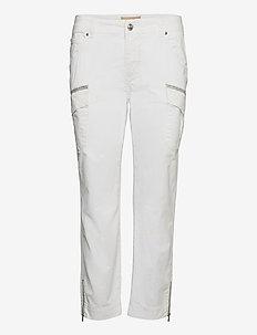 Camille Cargo Pant - bukser med lige ben - white