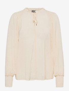 Eisa Dot Blouse - blouses met lange mouwen - ecru