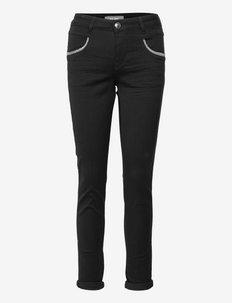 Naomi Row Black Jeans - kitsad teksad - black