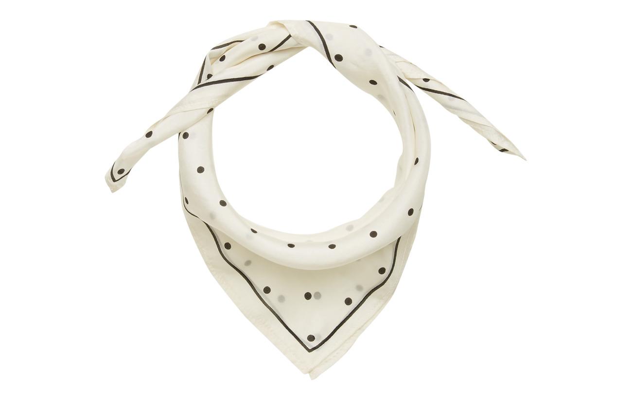 Moshi Moshi Mind flow scarf dotted - ECRU/BLACK DOTS
