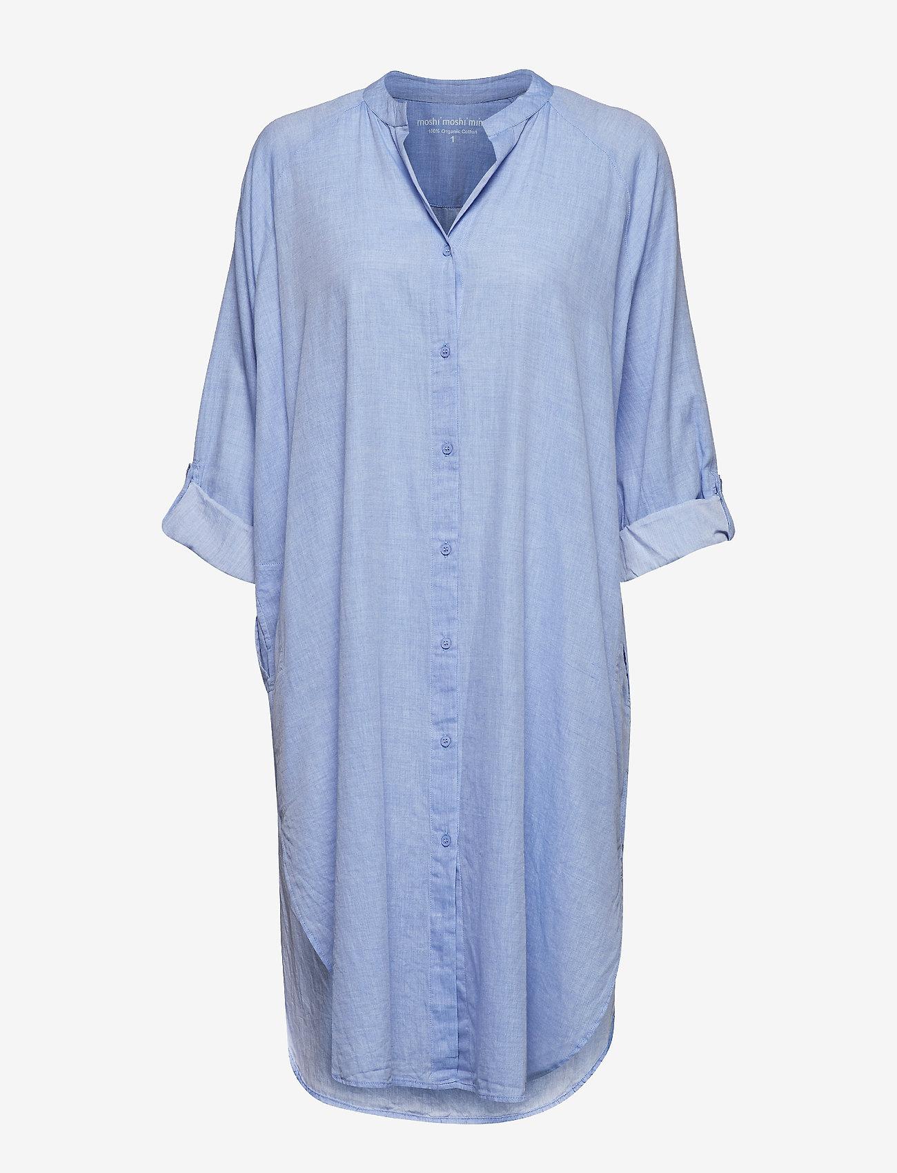Moshi Moshi Mind - remain shirtdress chambray - nachtjurken - light blue chambray - 1