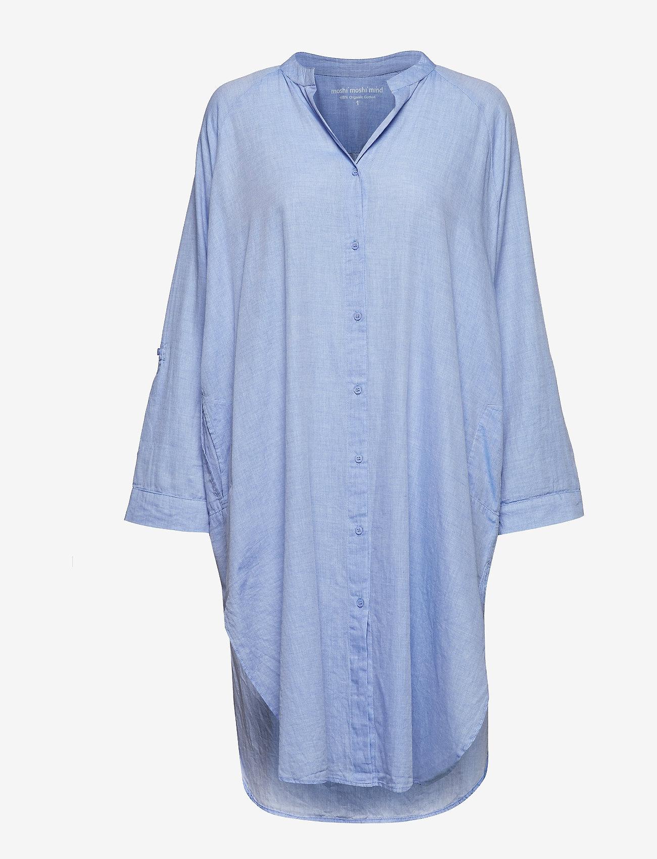 Moshi Moshi Mind - remain shirtdress chambray - nachtjurken - light blue chambray - 0