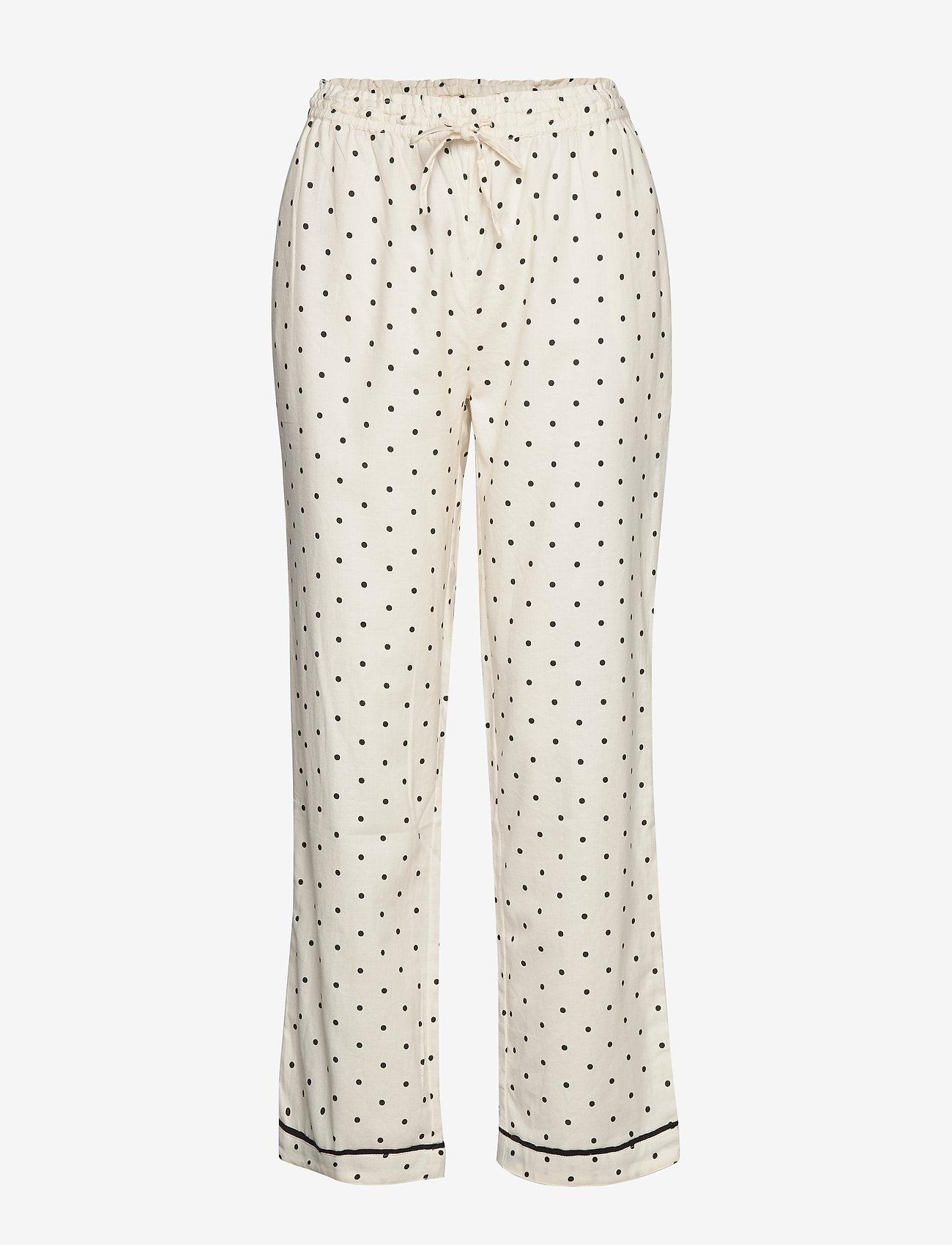 Moshi Moshi Mind - dotted rest pants - pyjama''s - ecru/black - 0