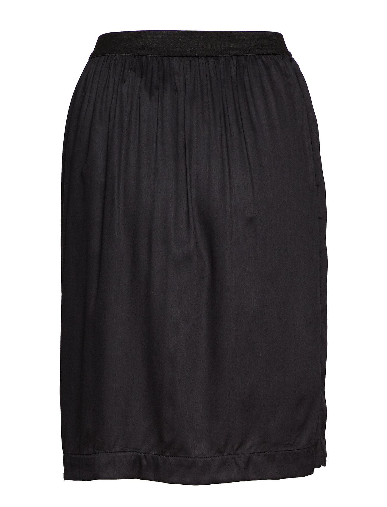 Palma Skirt Knælang Nederdel Sort Moshi Moshi Mind