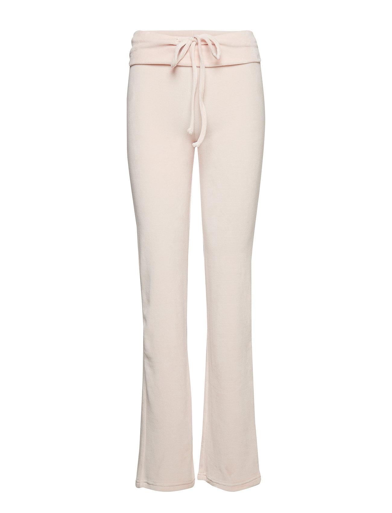 Moshi Moshi Mind flare pants velvet - ROSE