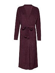 secret bathrobe terry - EGGPLANT