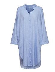 remain shirtdress chambray - LIGHT BLUE CHAMBRAY