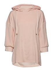afternoon hoodie velvet - ROSE