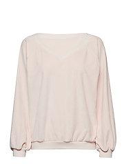 anna v-neck velvet blouse - ROSE