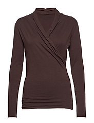 surround wrap top - FRENCH BROWN