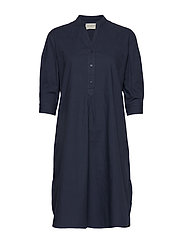 Kate Tunic Dress Crisp - BLUE