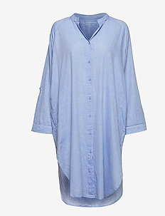 remain shirtdress chambray - natkjoler - light blue chambray