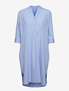 kate tunic dress chambray - LIGHT BLUE CHAMBRAY