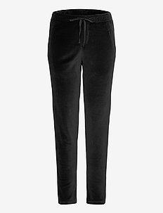 fly pants velvet - sweatpants - black