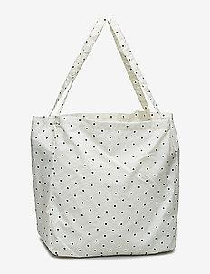 dotted shopper bag - ECRU/BLACK