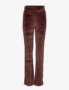 flare pants velvet - FRENCH BROWN